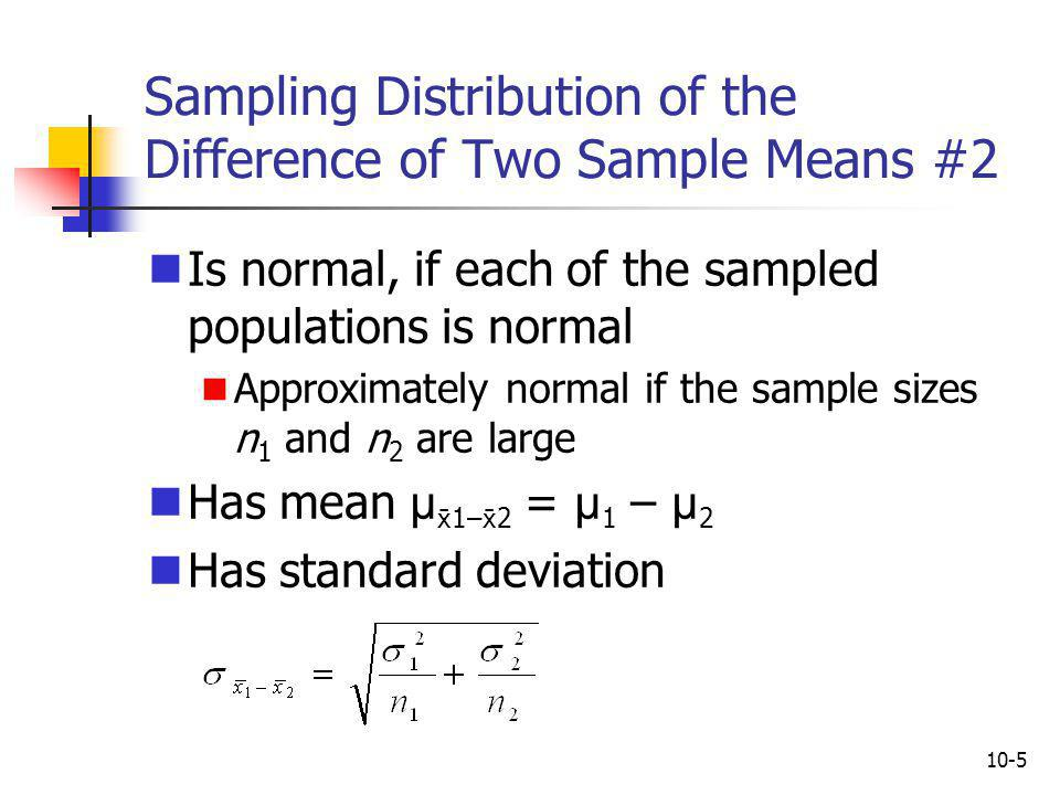 Sampling Distribution of the Difference of Two Sample Means #2