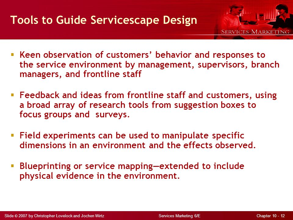 Tools to Guide Servicescape Design