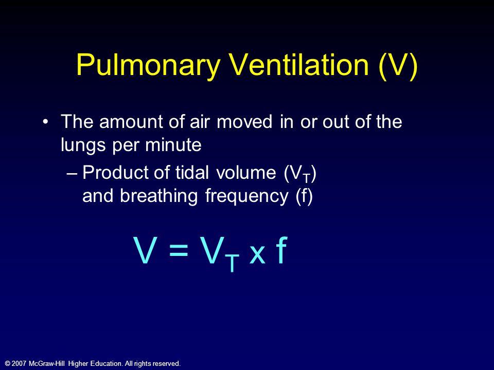 Pulmonary Ventilation (V)