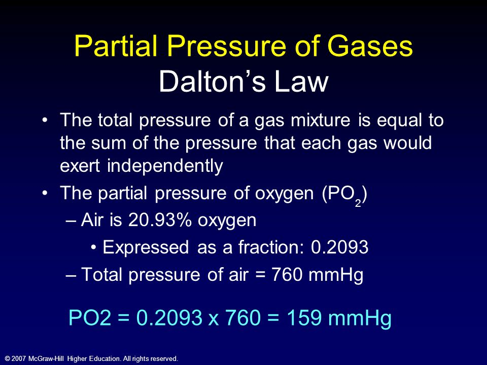 Partial Pressure of Gases Dalton's Law