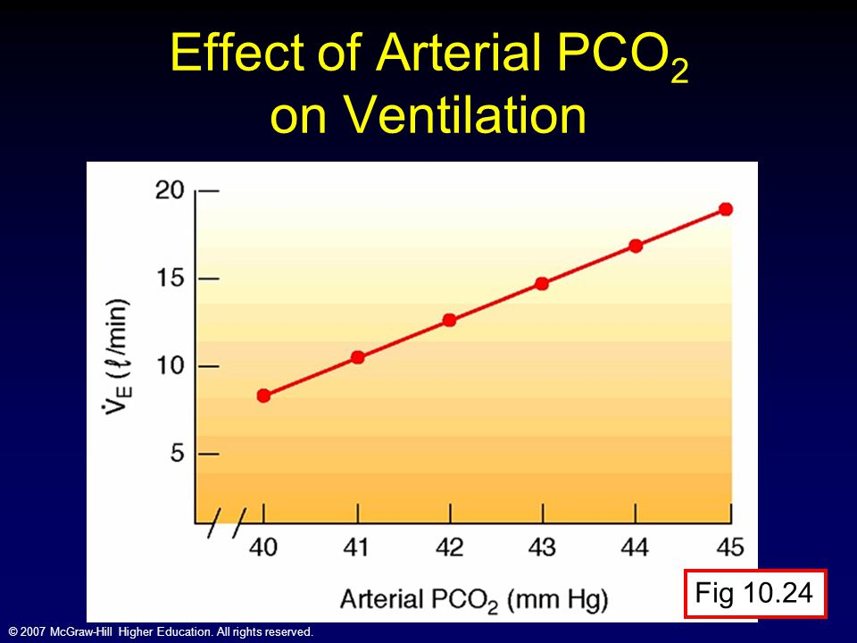 Effect of Arterial PCO2 on Ventilation