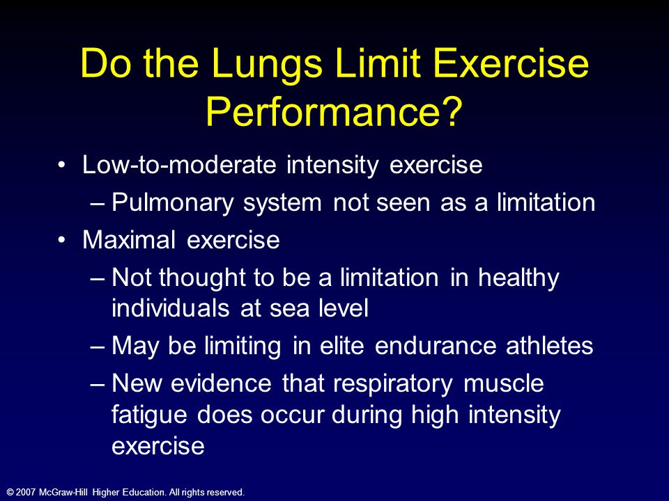 Do the Lungs Limit Exercise Performance