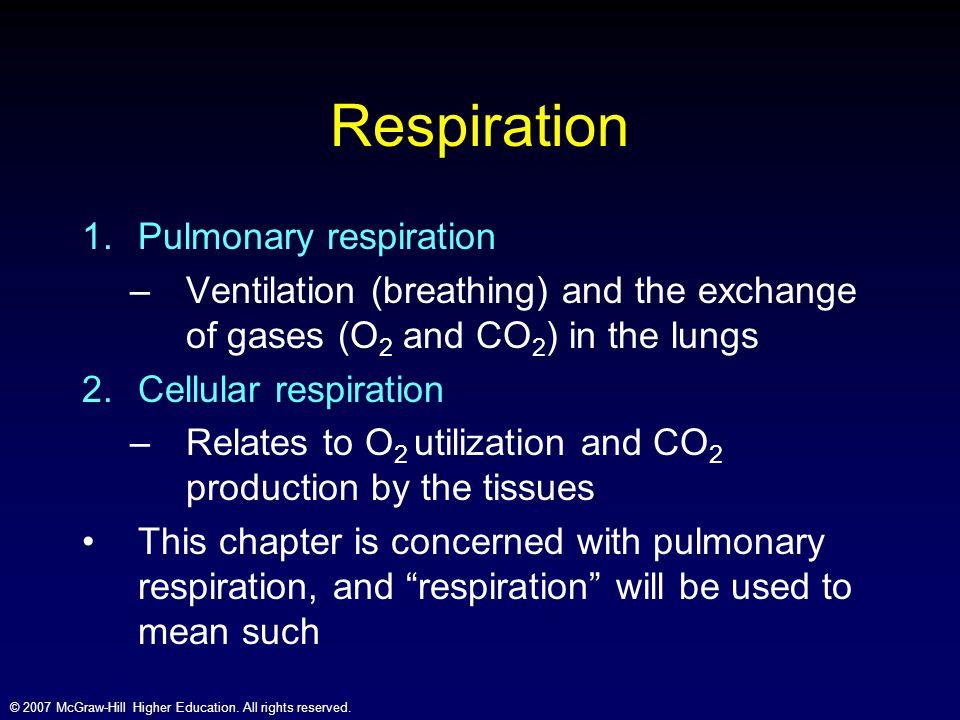Respiration Pulmonary respiration