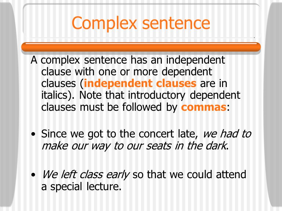 Complex sentence