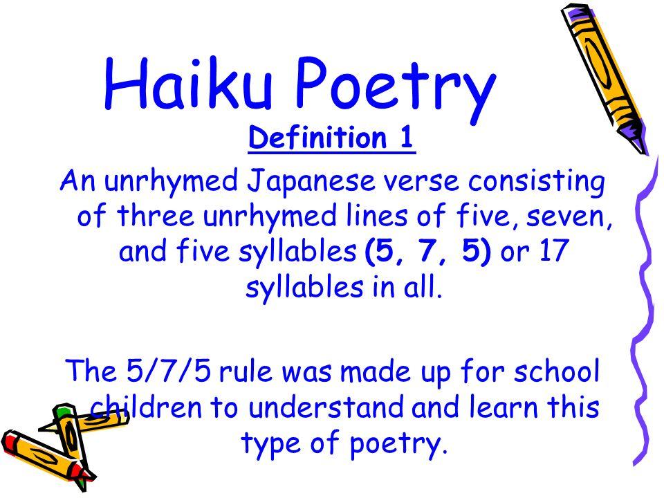 Haiku Poetry Definition 1