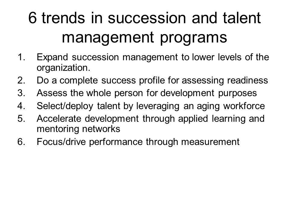 6 trends in succession and talent management programs