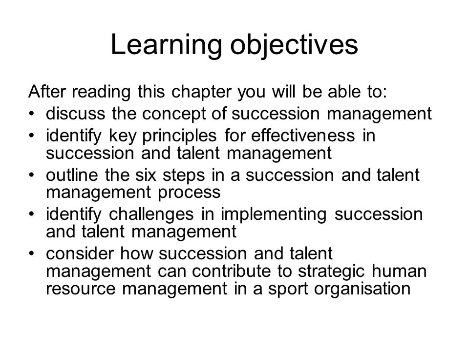 Learning objectives After reading this chapter you will be able to: