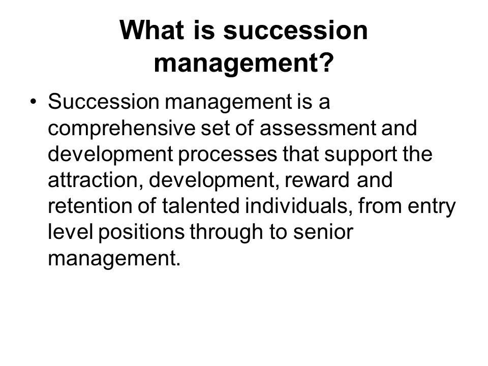 What is succession management