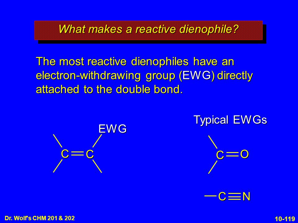 What makes a reactive dienophile