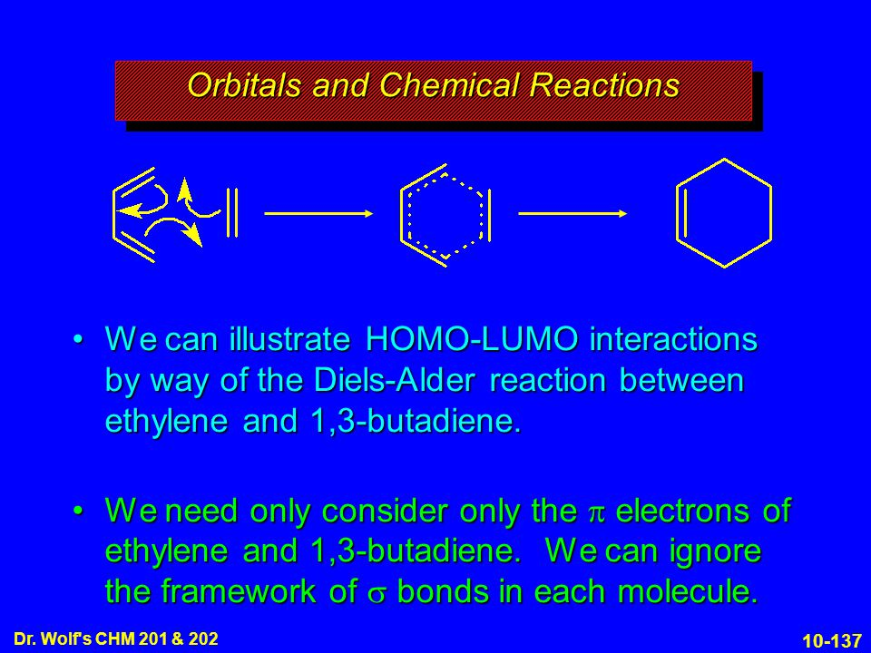 Orbitals and Chemical Reactions