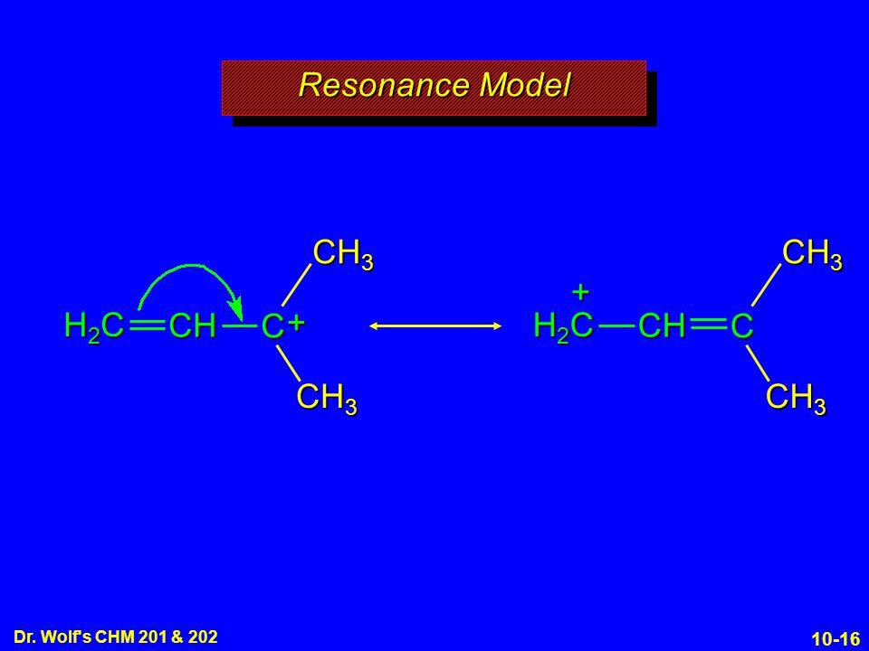 Resonance Model CH3 H2C CH + C CH3 CH3 H2C CH + C 10