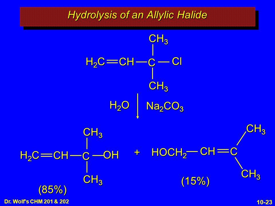 Hydrolysis of an Allylic Halide