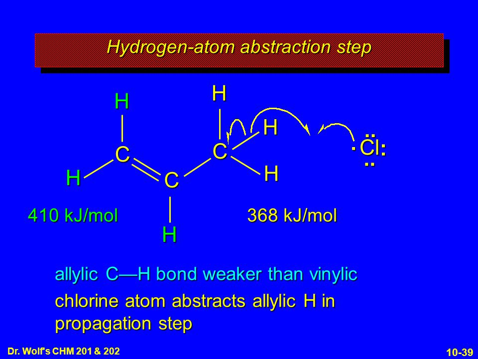 Hydrogen-atom abstraction step