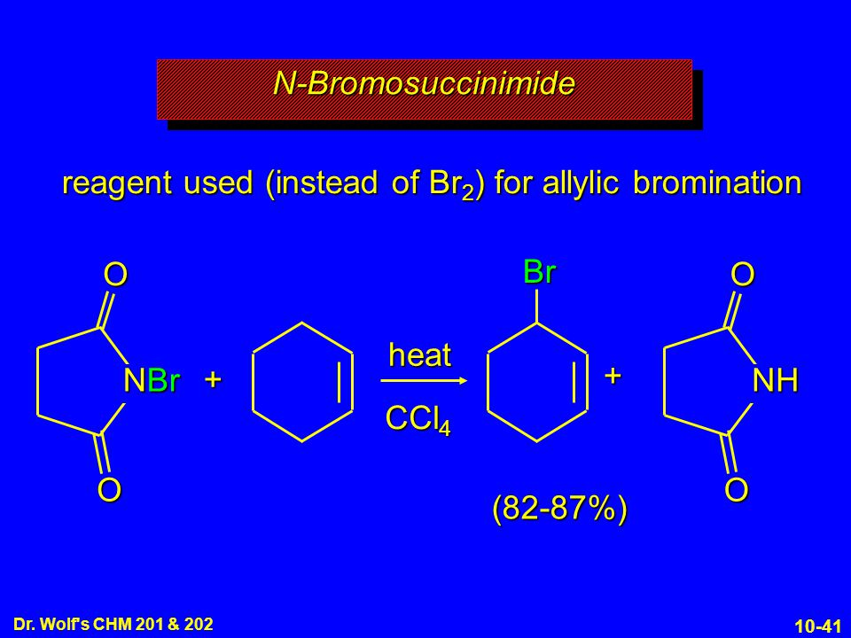 reagent used (instead of Br2) for allylic bromination