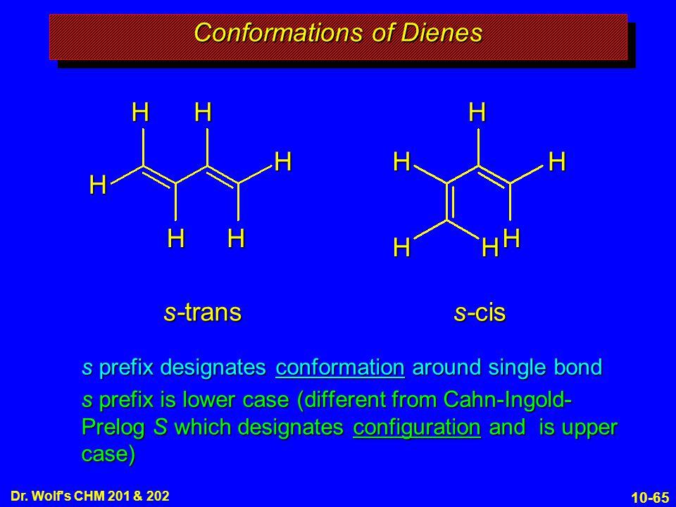 Conformations of Dienes