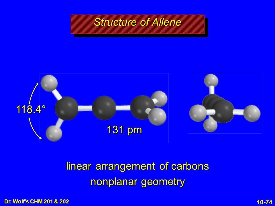 linear arrangement of carbons