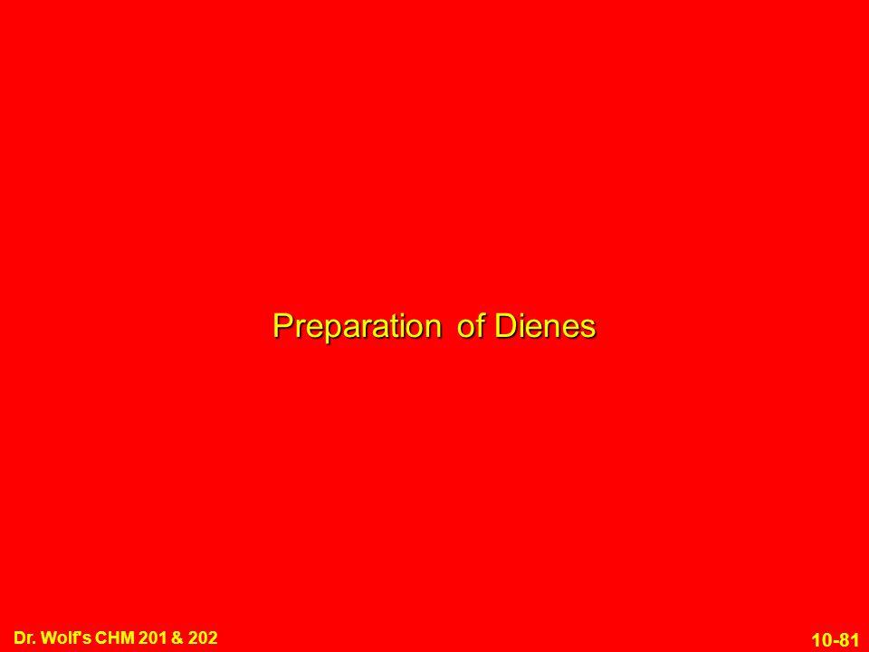 Preparation of Dienes Dr. Wolf s CHM 201 & 202 1