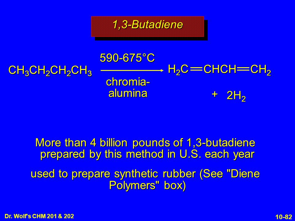 used to prepare synthetic rubber (See Diene Polymers box)