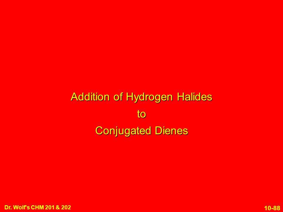 Addition of Hydrogen Halides to Conjugated Dienes