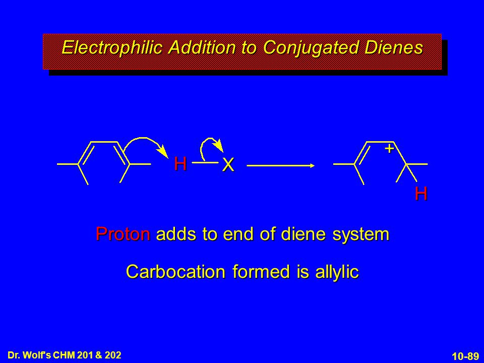 Electrophilic Addition to Conjugated Dienes