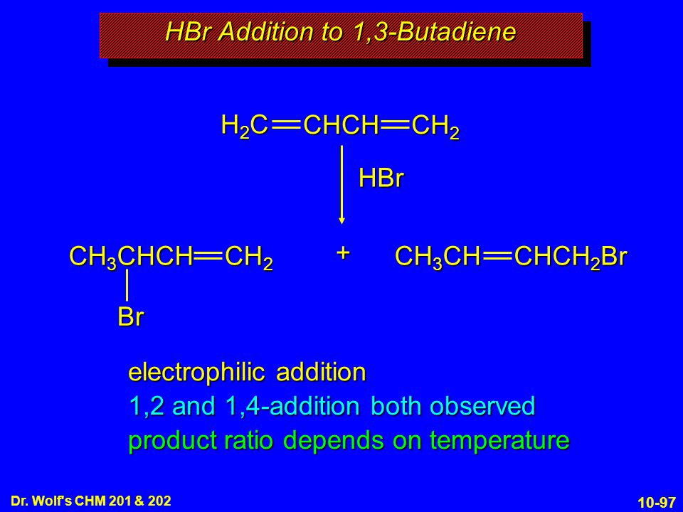 HBr Addition to 1,3-Butadiene