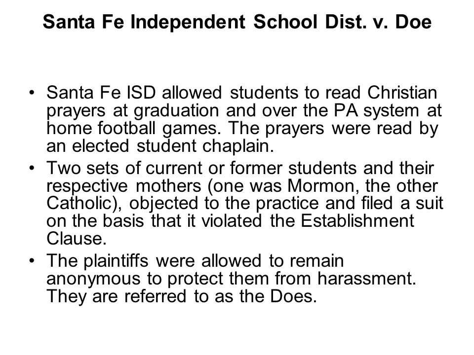 Santa Fe Independent School Dist. v. Doe