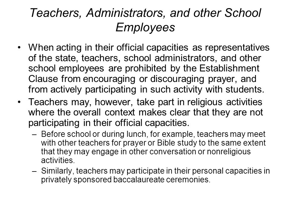 Teachers, Administrators, and other School Employees