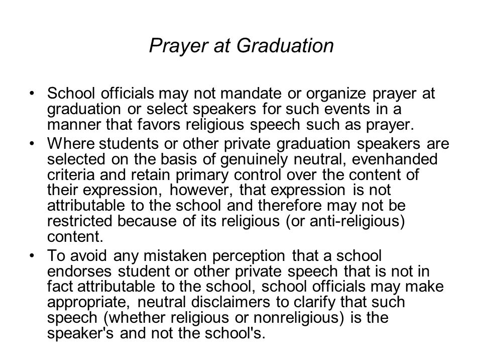 Prayer at Graduation