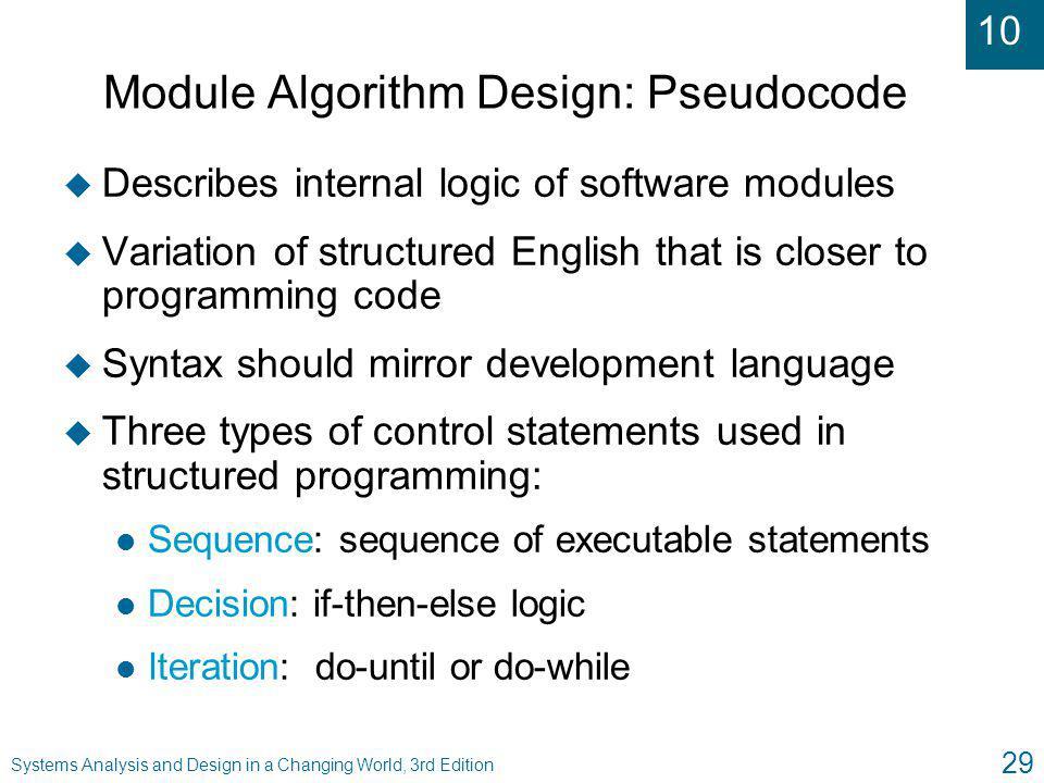 Module Algorithm Design: Pseudocode