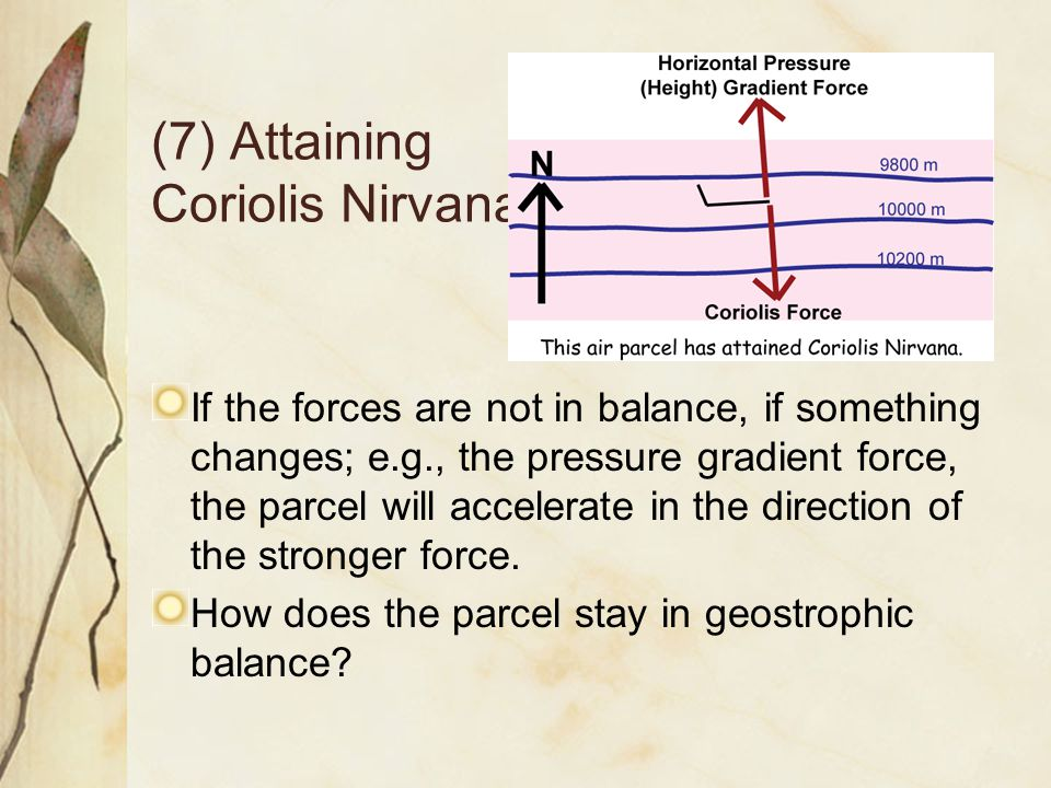 (7) Attaining Coriolis Nirvana