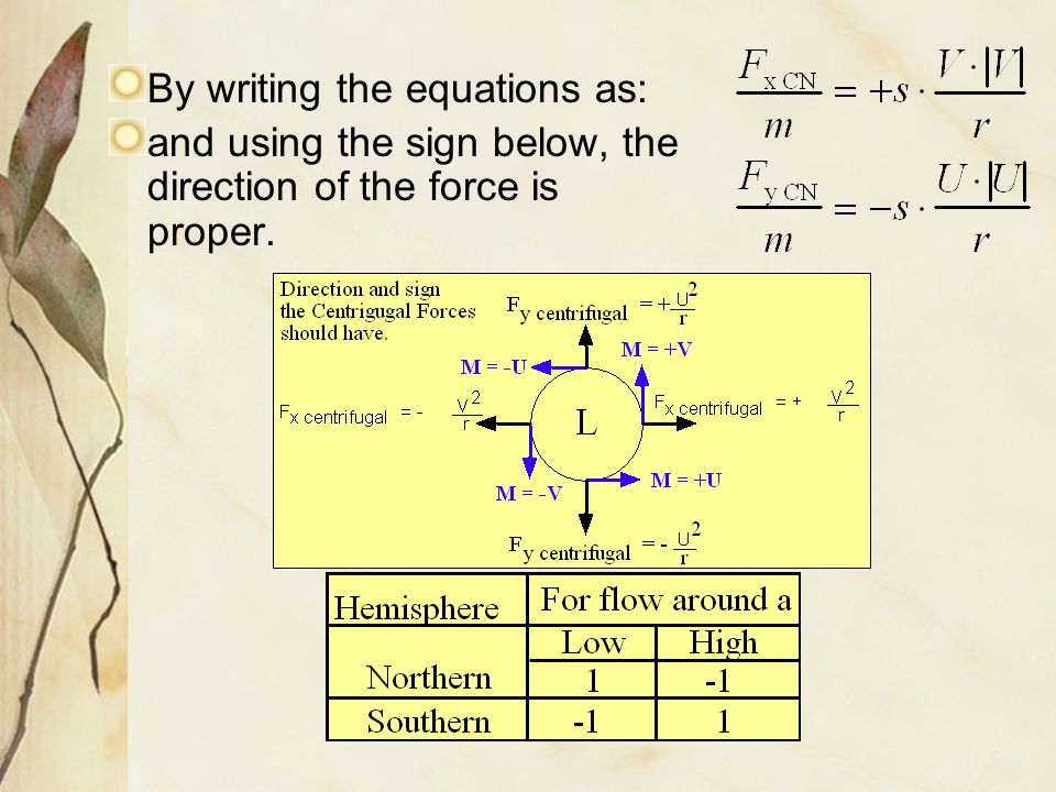 By writing the equations as: