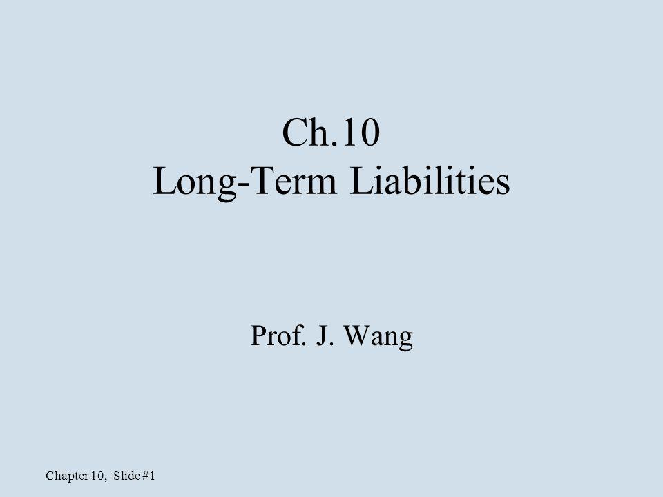Ch.10 Long-Term Liabilities