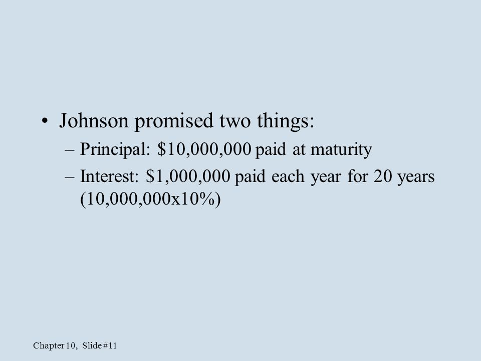 Johnson promised two things: