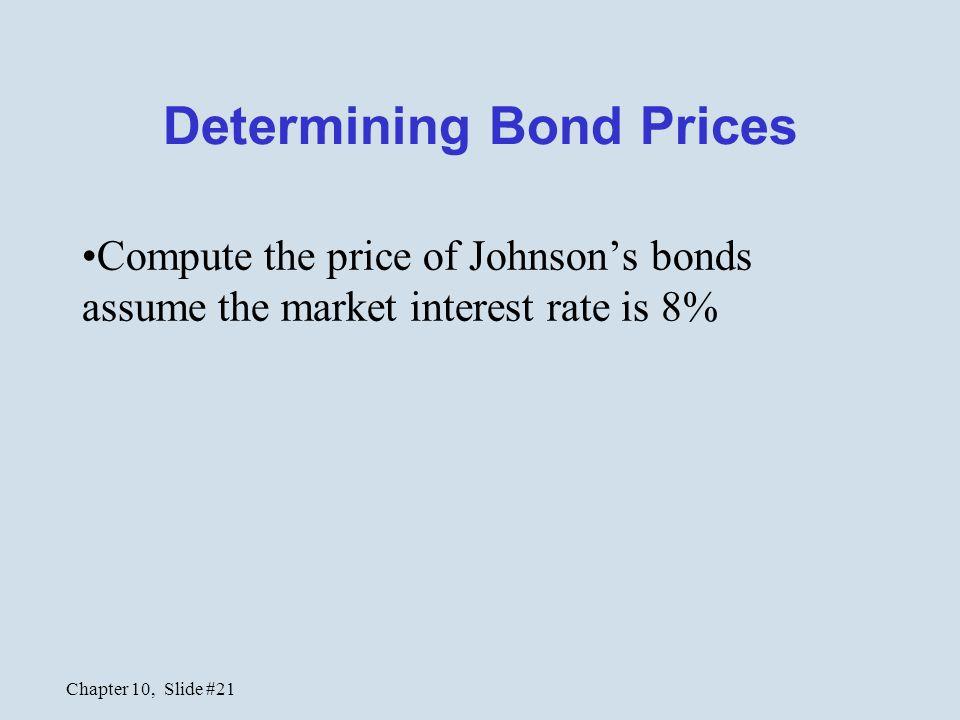 Determining Bond Prices