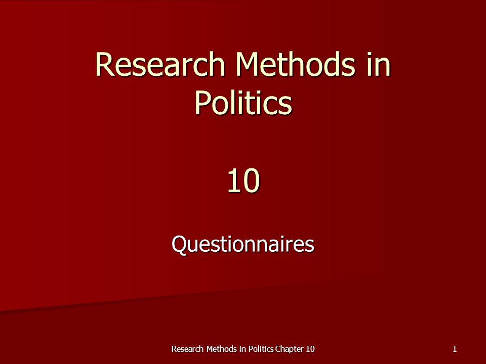 Research Methods in Politics 10