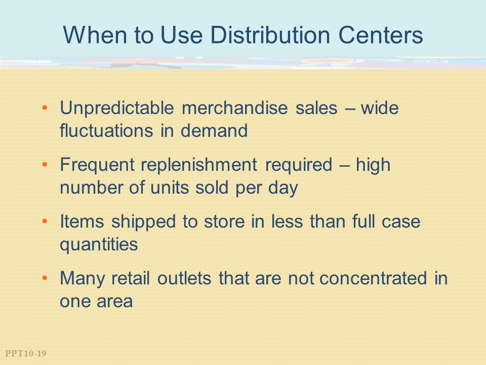 When to Use Distribution Centers