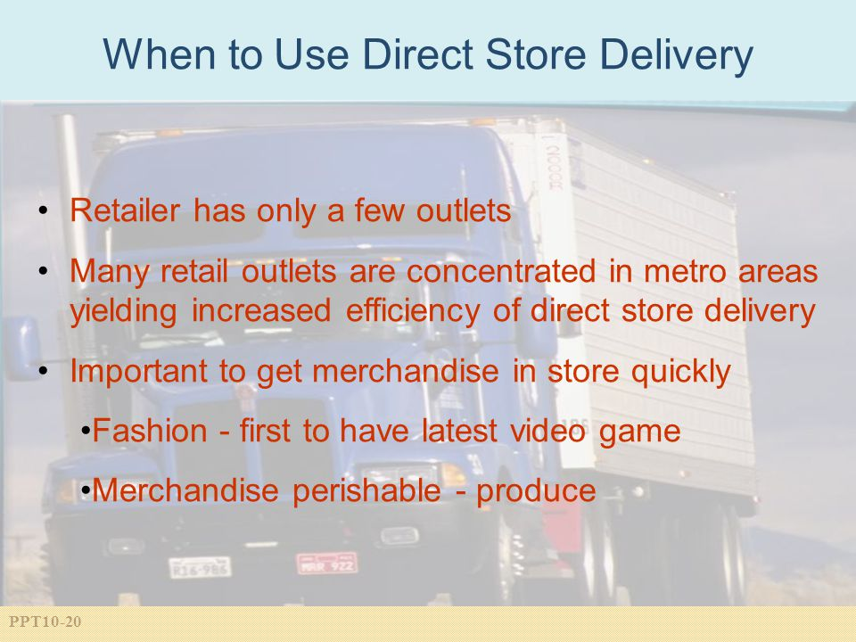 When to Use Direct Store Delivery