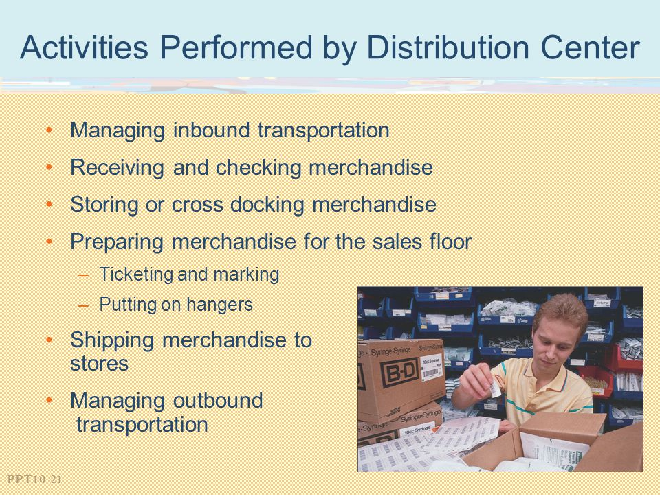Activities Performed by Distribution Center