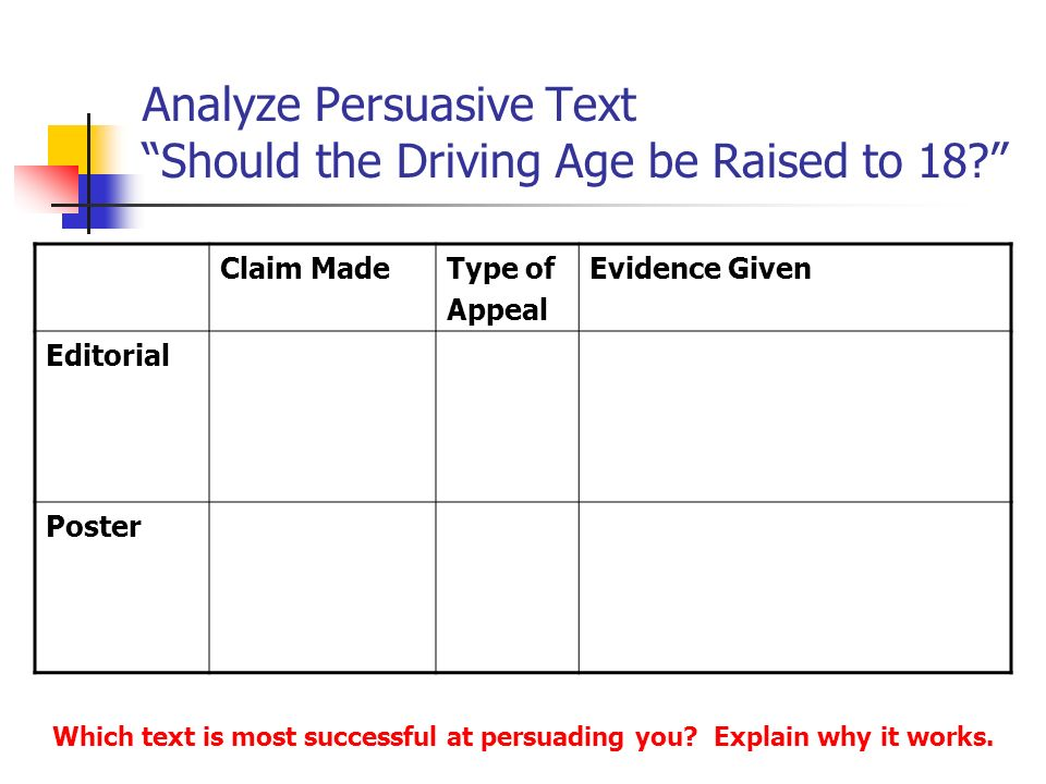 persuasive essay on the driving age to 18