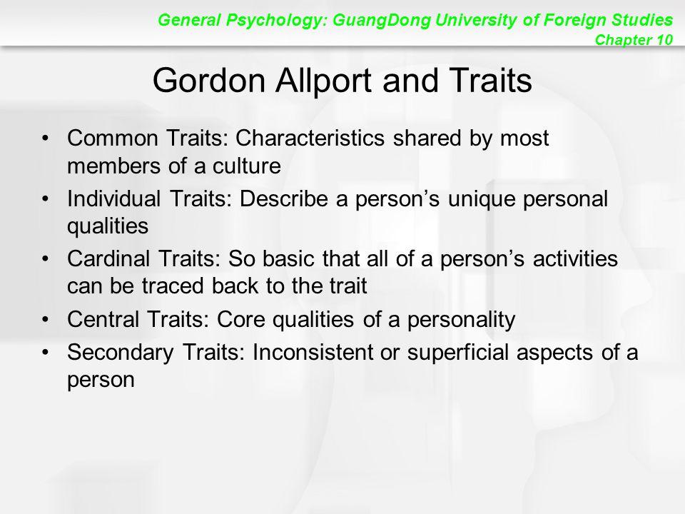 Gordon Allport and Traits