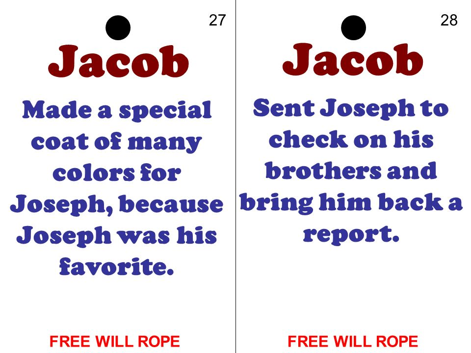 Sent Joseph to check on his brothers and bring him back a report.