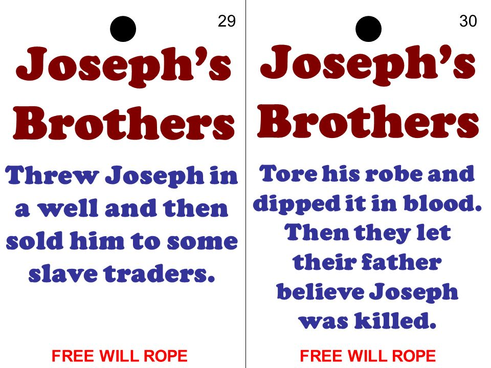 Threw Joseph in a well and then sold him to some slave traders.