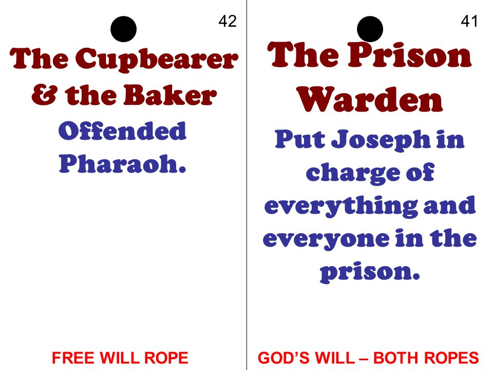 The Prison Warden The Cupbearer & the Baker Offended Pharaoh.