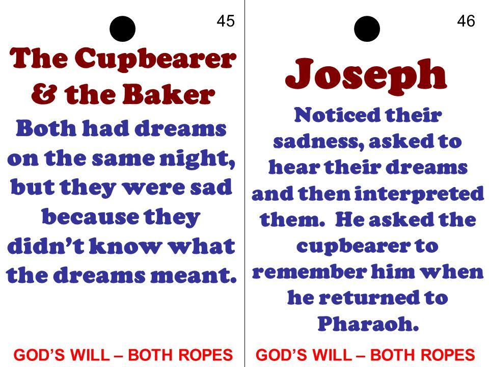 The Cupbearer & the Baker
