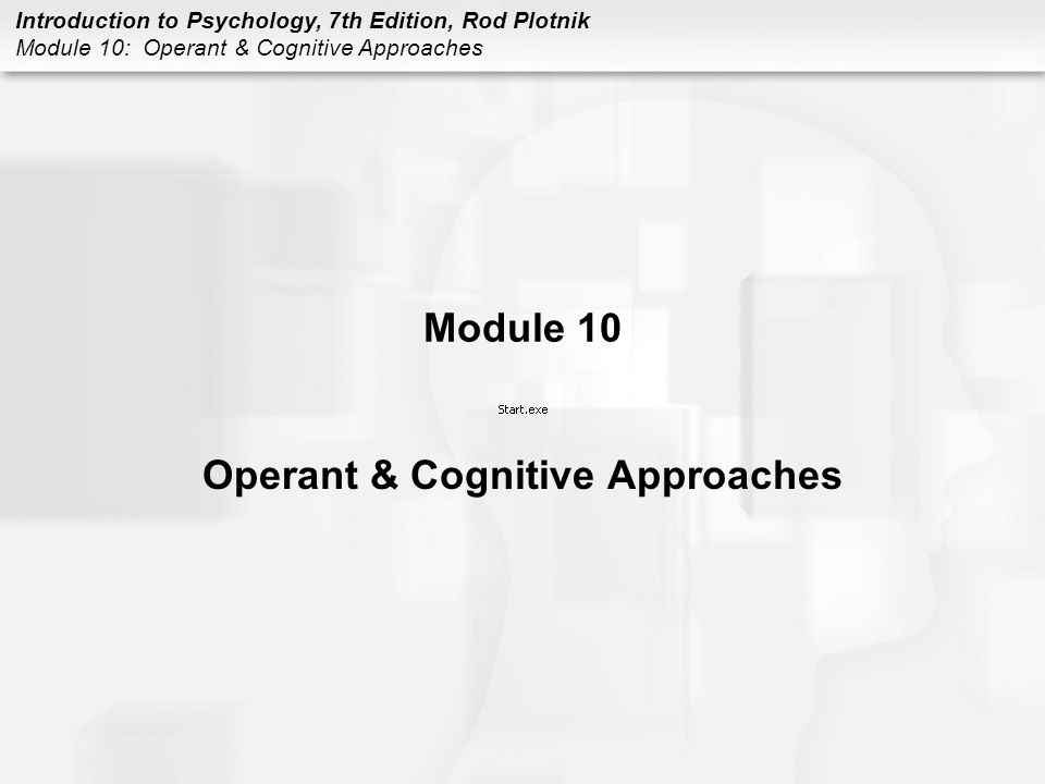 Operant & Cognitive Approaches