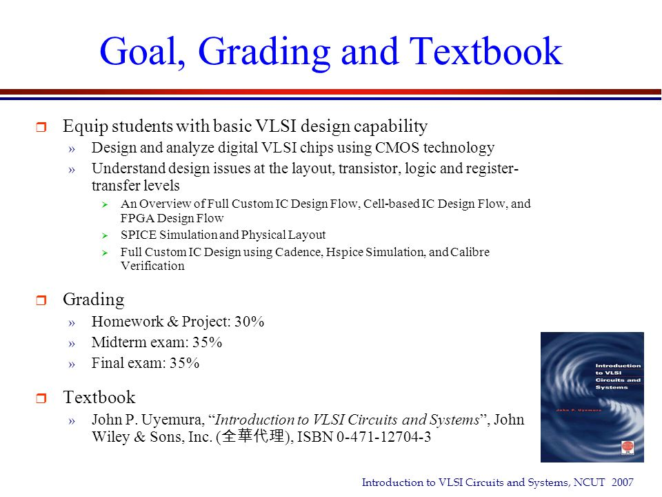 Goal, Grading and Textbook