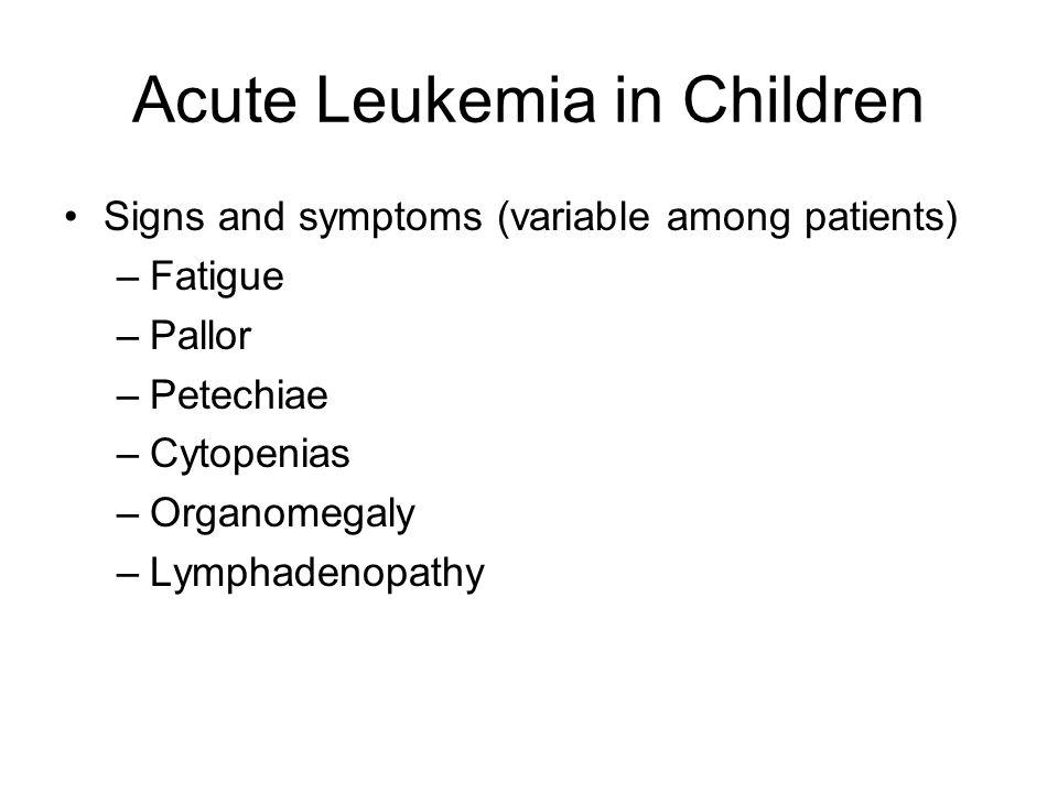 Acute Leukemia in Children