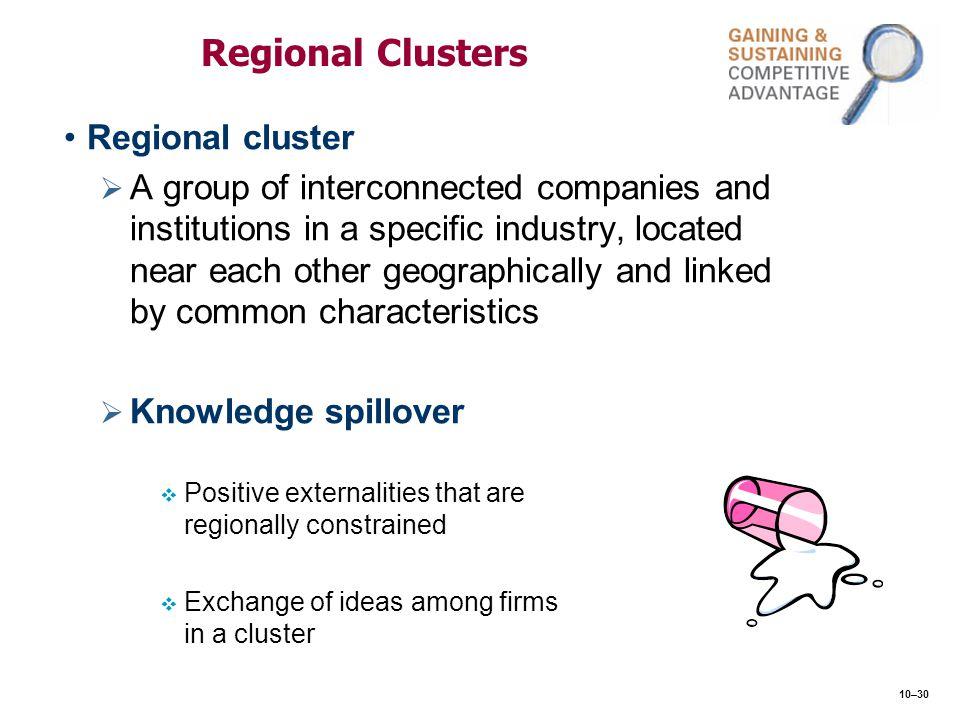 Regional Clusters Regional cluster