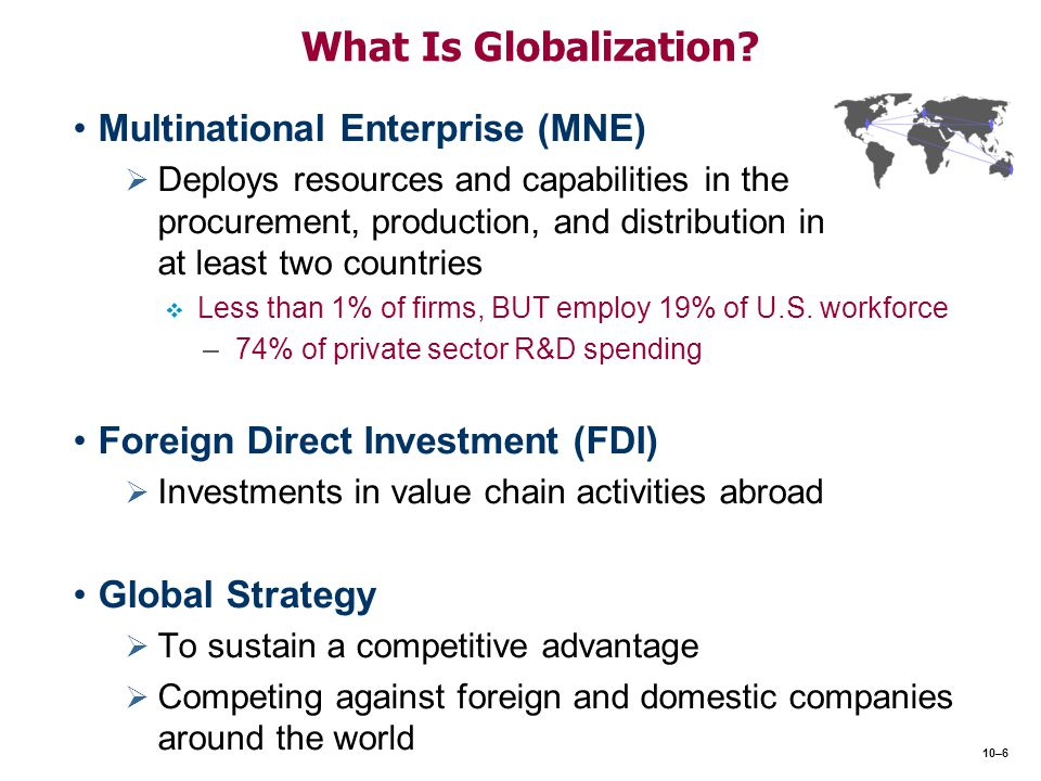 What Is Globalization Multinational Enterprise (MNE)