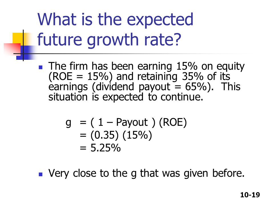 What is the expected future growth rate